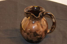 Vintage Attractive 9.5 cm Jug Welsh Ewenny Pottery - Black & Brown Glaze