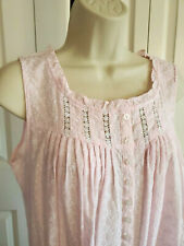 NWT $66 S Small Eileen West Nightgown Gown NEW 100% Cotton Embroidery Pink