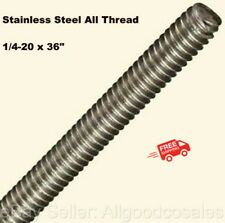 """FABORY Fully Threaded Rod 316 Stainless Steel 1/4""""-20 3 FT Length Hawa"""
