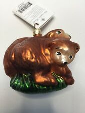 "Christopher Radko Ornament ""Two by Two"" Bears -Retired"