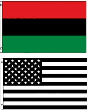 3x5 3'x5' Wholesale Combo Black White Usa American Africa African Flags Flag