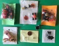 1:12 Scale Dollhouse MINIATURE HALLOWEEN Items. Bat house, spider web, treaters