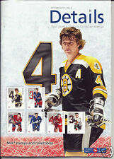 CANADA POST NHL STAMP DETAILS MAGAZINE OCTOBER 2014 BOBBY ORR COVER HOF BOOK NEW