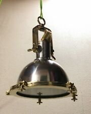 Nautical Aluminium Brass Smooth Cargo Pendant Cargo Hanging Retro Ship Light