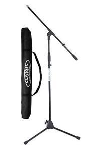 DJ PA Mikrofonständer Mikrofonstativ Galgenstativ Galgenständer Tasche Bag Set
