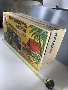 "Vintage GI Joe Sandstorm Survival Adventure Jeep ( Original Box Only ) 1:6, 12"""
