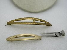 Vintage Barrette And Hairpin Lot, 3 Pieces, 1950's-1960's