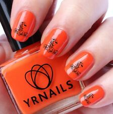 Nail WRAPS Nail Art Water Transfers Decals - Halloween Pumpkin Scene - H035
