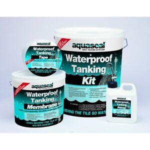 EVERBUILD AQUASEAL TANKING KIT STANDARD 4.5 M2 WET ROOM SHOWER BATH WATERPROOF