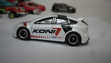 2017 Hot Wheels White Koni  Ford Focus Custom Real Riders
