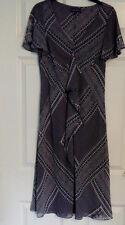 Per Una Marks & Spencer Ladies Monochrome Black White Beach Holiday Dress Sz 12