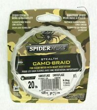Spiderwire Stealth Camo-Braid 20 lb 125 yards for Clear water w Weeds New