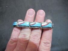Navajo FY Frank Yazzie Sterling Silver turquoise Bracelet