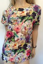 Pomodoro Size 14 Kaleidoscope Delphina Simply Fab Floral BLOUSE TOP New