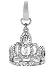 NWT Fossil Brand Silver Metal & Clear Rhinestones Tiara Crown Shape Charm