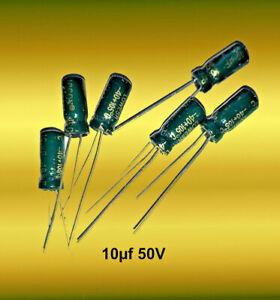 10µf   50 V   105°     Elektrolytkondenstoren    *** 10 Stück ****     Elko 10uf