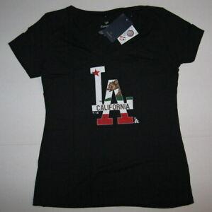 MLB Fanatics Los Angeles Dodgers California Bear Flag Logo T-Shirt Women's XL