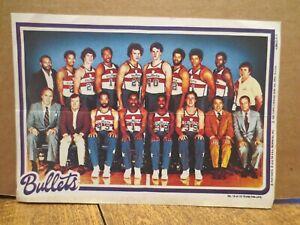 1980 NBA TOPPS CHEWING GUM PRINT---WASHINGTON BULLETS