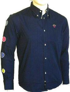 Camicia Uomo Ragazzo OVERMAIL B344 Shirt Blu Tg S M L XL XXL veste piccolo