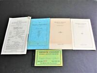 1930s set of (5) Student activity Booklets, Oberlin, Ohio College.