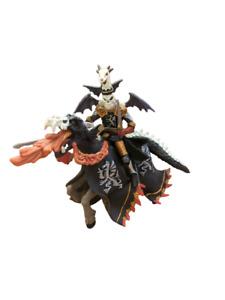 New Papo Dragon Horseman Skelton Knight on Dragon Horse Figure Free UK Postage