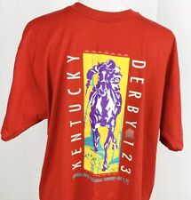 Vintage 1997 Official Kentucky Derby Red Graphic T-Shirt