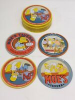 The Simpson Four-Coaster Set metal and cork RARE Collectable