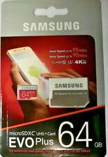 Samsung EVO Plus 64GB 4K ULTRA HD Micro Memory UHS-I Class 10 SD Card HD