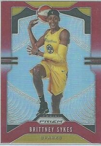 2020 WNBA PANINI * BRITTNEY SYKES RED PRIZM * PARALLEL CARD 169 / 275 LA SPARKS