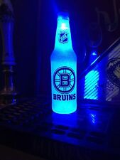 NHL Boston Bruins Hockey 12 oz Beer Bottle Light LED Bar Man Cave