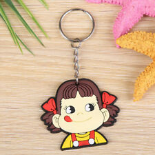 New Cartoon PVC Key Chains Metal Double Side Rubber Key Ring a7