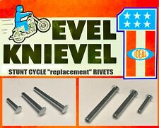 Evel Knievel Stunt Cycle REPLACEMENT RIVETS Ideal 1970's  >>REPAIR YOUR OWN<<