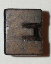 Vintage E Wood Type Letterpress Printing Block Wooden Letter E