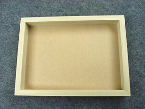 Shadow Box Tray Frame, Bare Wood, For Canvas,Textile Art,Felt,Collage,3D Picture
