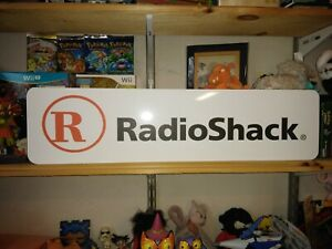 "Radio Shack Sign, RadioShack 24""x6"" Display."