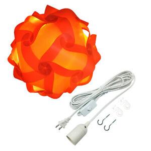 Bzwoy Large Ceiling Pendant IQ Jigsaw Puzzle Lamp Shade Kit 15Feet White Hanging