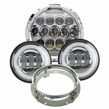"""7"""" CREE LED Daymaker Headlights Bulb Passing Lights For Harley Davidson Touring"""