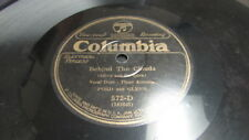 FORD AND GLENN COLUMBIA 78 RPM RECORD 572 TIE ME TO YOUR APRON STRINGS AGAIN