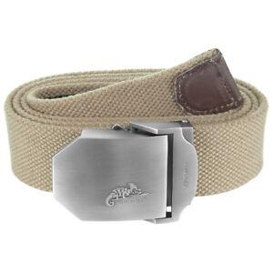 Helikon Tactical Adjustable Military Mens Uniform Cotton Belt Metal Buckle Khaki
