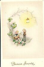 CPA BONNE ANNEE 1950 Ancienne carte de voeux NEUF N°4