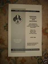 SURVIVAL EVASION & RECOVERY BOOK 4 INSTRUCTORS AND ARMY