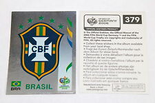 PANINI WC WM GERMANY 2006 – RARO BRASILE STEMMA RARE Brasil BADGE 379