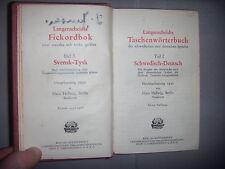 Suède Allemagne: Dictionnaire Svensk Tysk & Schwedisch Deutsch, 1930, BE