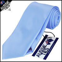 MENS BABY / SKY BLUE 8.5CM TIE necktie light wedding plain formal