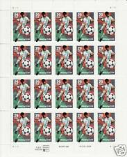 WORLD CUP SOCCER STAMP SHEET -- USA #2834 29 CENT FOOTBALL