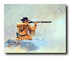 Mountain Man the Hunter Rifle Western Wall Decor Art Print Poster (16x20)