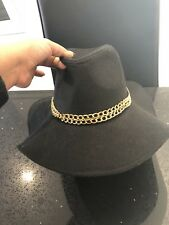 51958a436cf Brand New GUESS Black   Gold Chain Floppy Hat BNWT