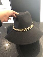 Brand New GUESS Black   Gold Chain Floppy Hat BNWT 13b90f57561d