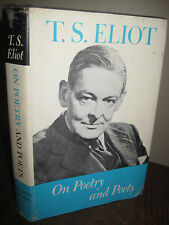1st Edition ON POETRY AND POETS T.S. Eliot ESSAYS First Printing NOBEL PRIZE