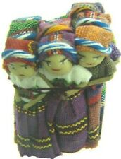 """Wholesale - 72 Worry Dolls 2"""" Tall Hand Crafted and Made by Ethnic MesoAmericans"""